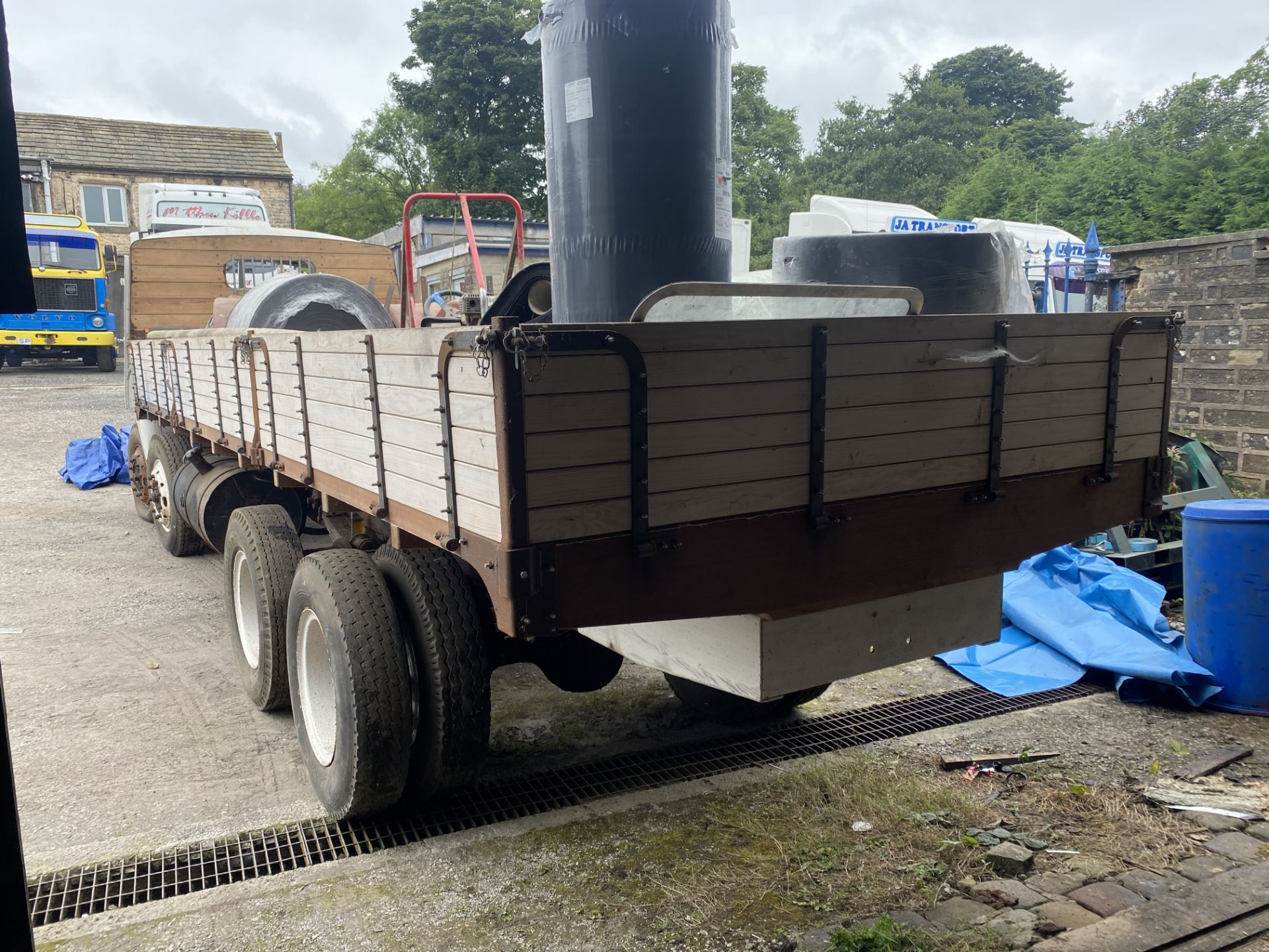 AEC Mammoth Major 8x4 Rigid Timber Dropside Truck, partially restored, with quantity of spare - Image 4 of 21