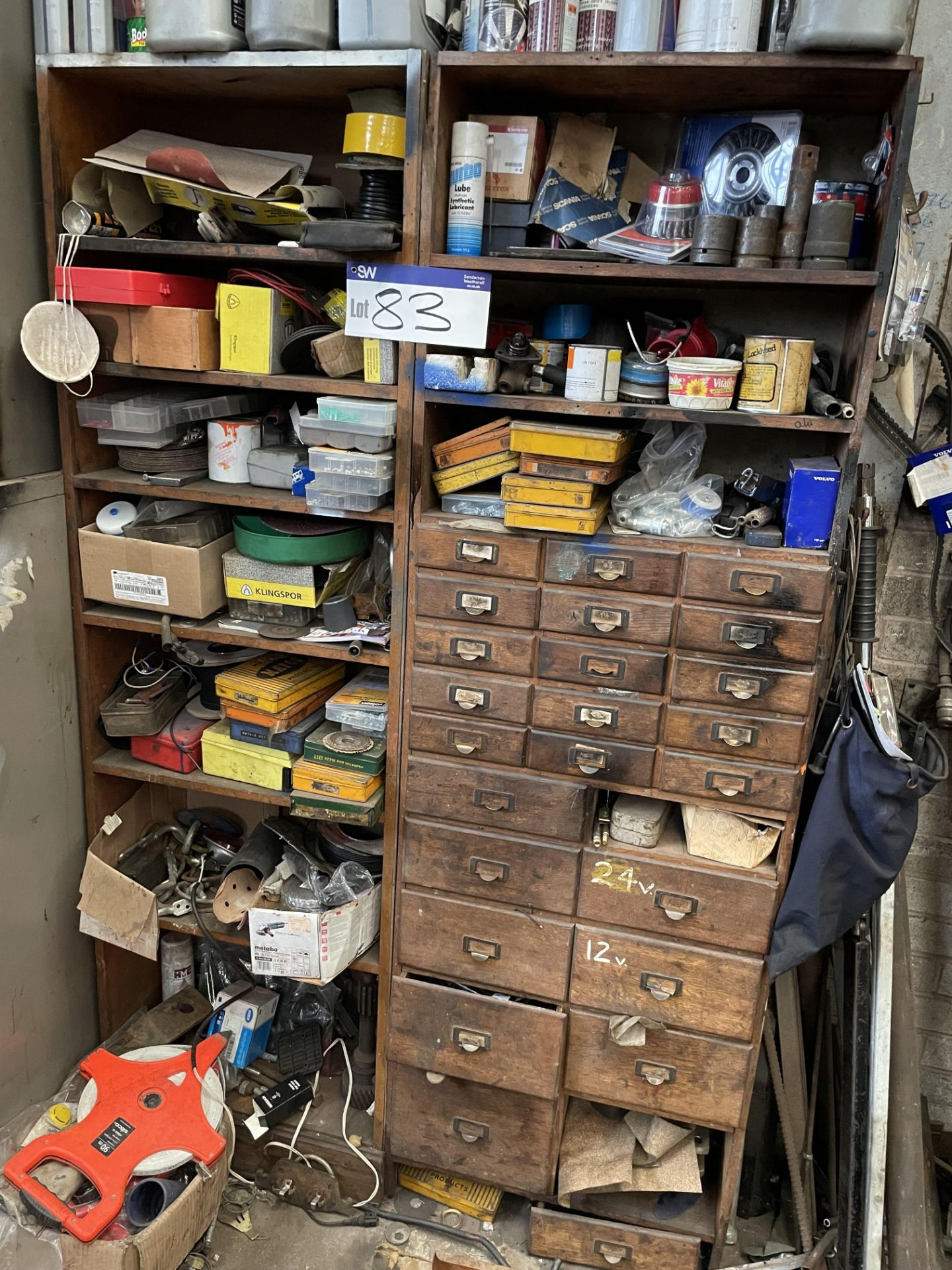 Multi-Compartment Chest of Drawers, with contents(this lot is subject to 15% buyer's premium)Please