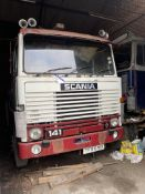 Scania 141 V8 4X2 TRACTOR UNIT, registration no. TFR 691X, date first registered 01/06/1982, cab