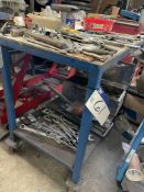 Two Tier Steel Trolley, approx. 1m x 600mm (contents excluded)(this lot is subject to 15% buyer's