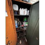 Single Door Steel Cabinet, with contents(this lot is subject to 15% buyer's premium)Please read the