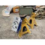 Three Polco Two Ton Axle Stands(this lot is subject to 15% buyer's premium)Please read the