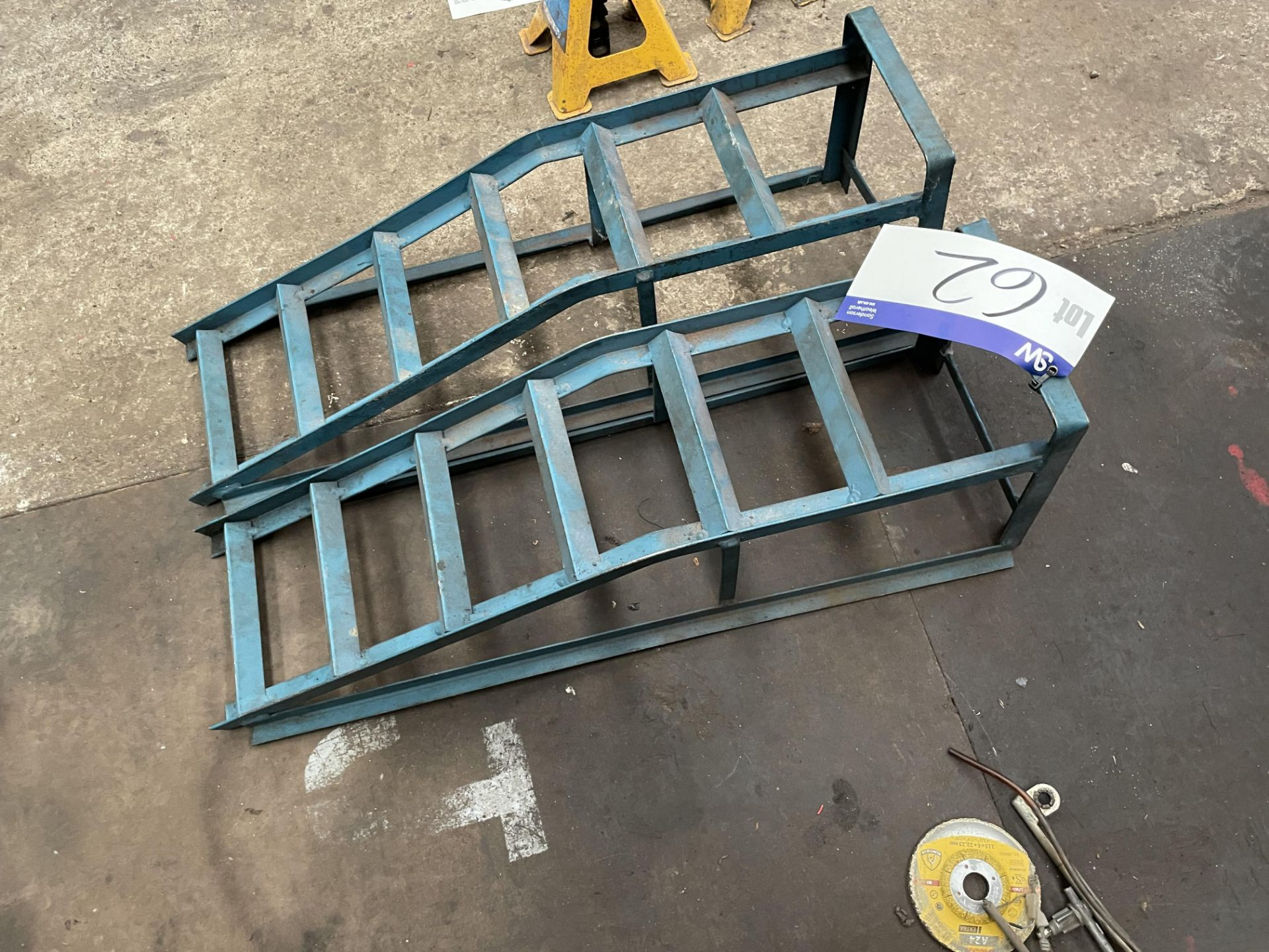 Two Steel Ramps(this lot is subject to 15% buyer's premium)Please read the following important