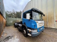 Scania P420 8x4 Hook Lift Truck, registration no. MX55 DND, date first registered 09/2005, indicated