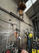 Electric Chain Hoist & Chain Block, with pendant control, as set out on girder(this lot is