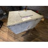 Galvanised Steel Tank/ Storage Unit, approx. 900mm x 650mm x 600mm (contents excluded)(this lot