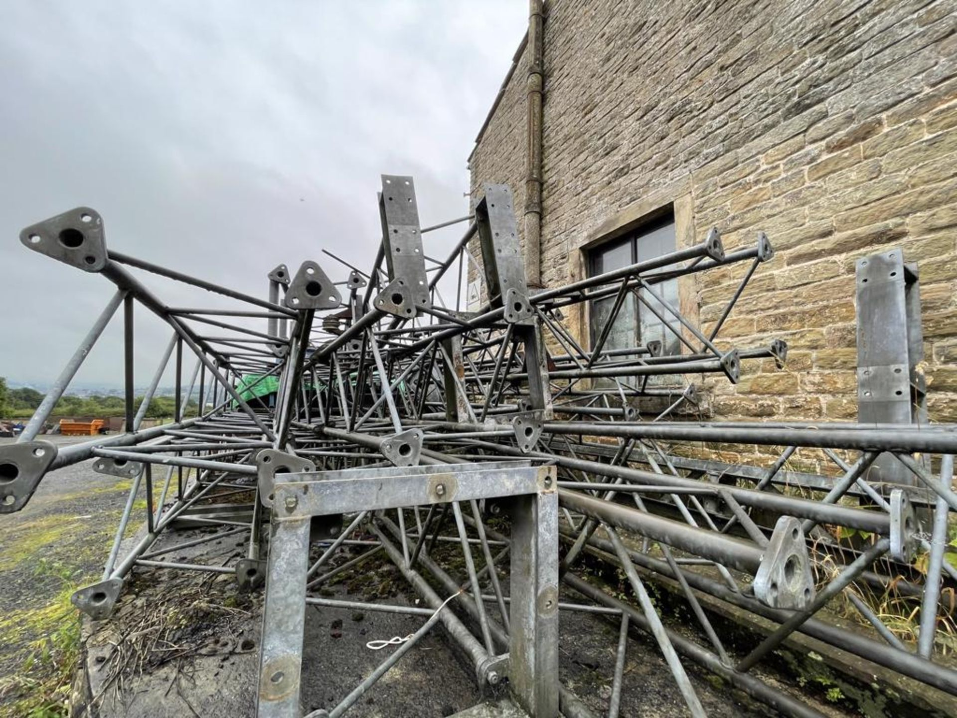 Quantity of Galvanised Steel Goalpost Trussing, approx. 530mm x 530mm, as set out in one area( - Image 3 of 3