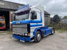 Scania 143M450 V8 4X2 TRACTOR UNIT, registration no. L288 BPV, date first registered 01/08/1993,