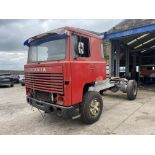 Scania 141 3.8M 4X2 TRACTOR UNIT, 1979, left hand drive, 3.8m wheelbase, 16,700kg gross weight, with