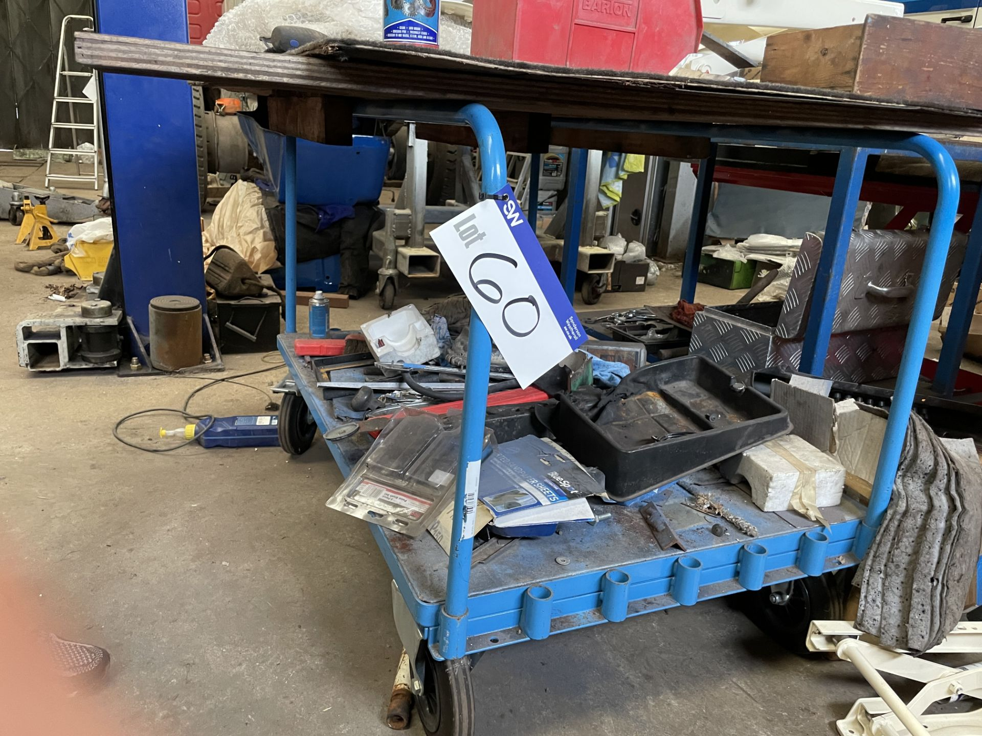 Eurokraft Two Tier Steel Trolley, approx. 1.3m x 700mm (contents excluded)(this lot is subject to