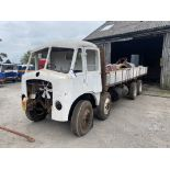 AEC Mammoth Major 8x4 Rigid Timber Dropside Truck, partially restored, with quantity of spare