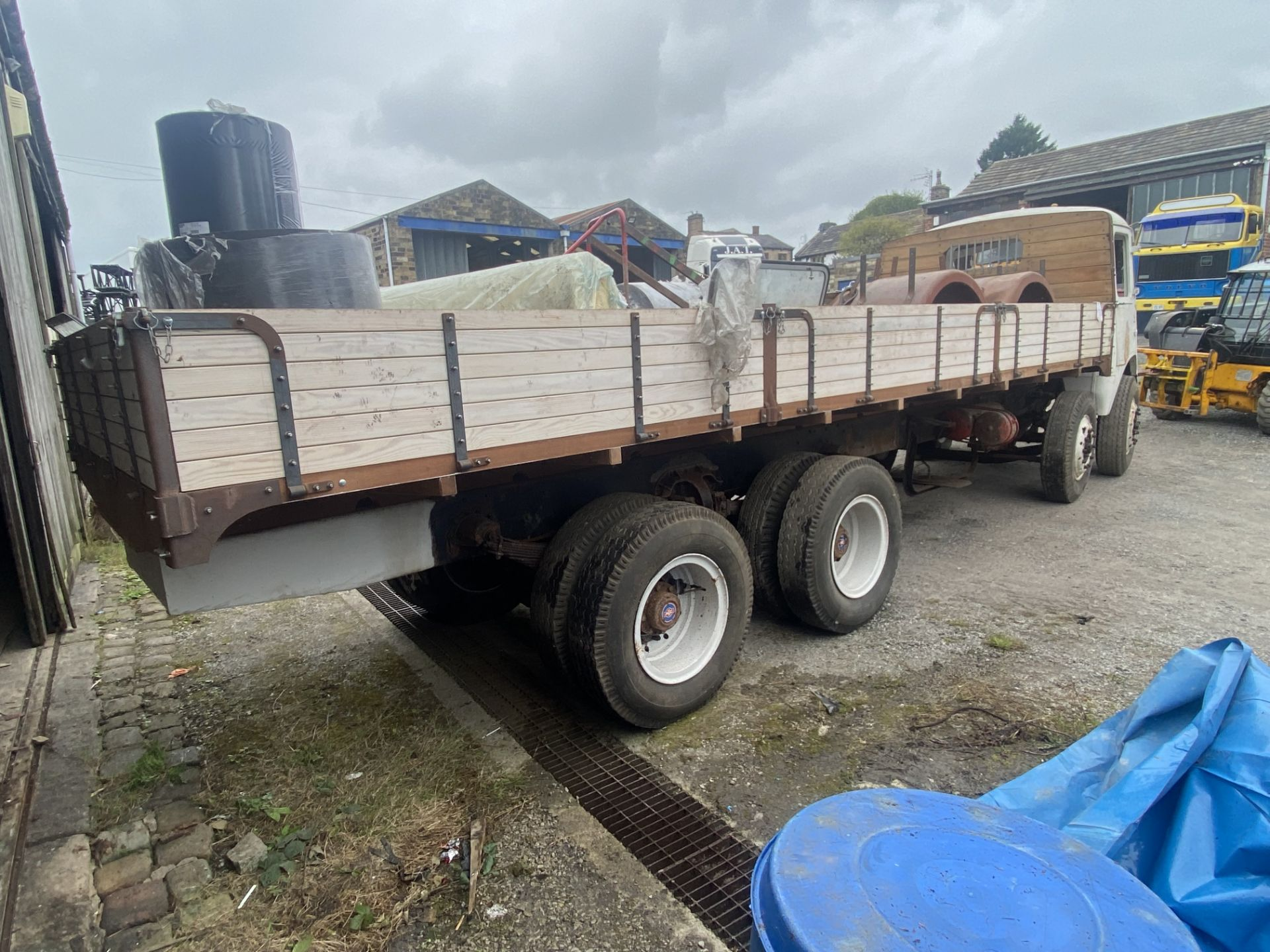 AEC Mammoth Major 8x4 Rigid Timber Dropside Truck, partially restored, with quantity of spare - Image 3 of 21