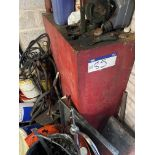 Welded Steel Fuel Storage Tank, approx. 1.22m x 460mm x 1.22m deep, with pump(this lot is subject