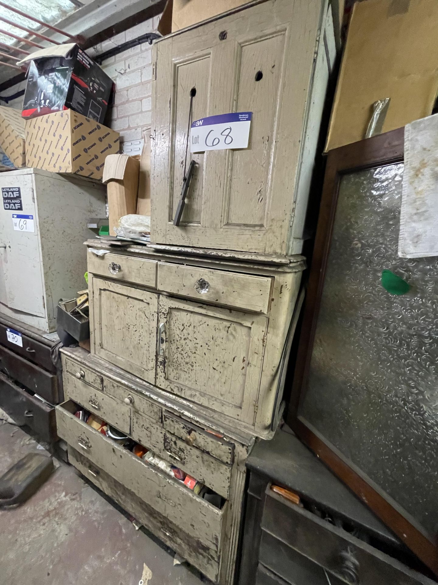 Three Assorted Timber Cabinets/ Drawers, with contents(this lot is subject to 15% buyer's premium) - Image 4 of 4