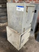 Two Alloy Lockers(this lot is subject to 15% buyer's premium)Please read the following important