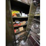Double Door Steel Cabinet, with contents(this lot is subject to 15% buyer's premium)Please read