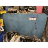 Welded Steel Fuel Storage Tank, approx. 1.8m x 650mm x 1.4m, with rotary hand pump(this lot is