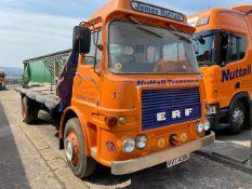 ** EXTRA LOT ** ERF A Series 4x2 Rigid Flat Bed Truck, registration no. VVT 439L, date first