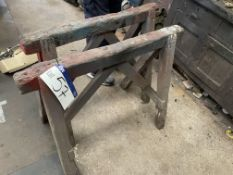 Two Timber Trestles, approx. 950mm wide(this lot is subject to 15% buyer's premium)Please read
