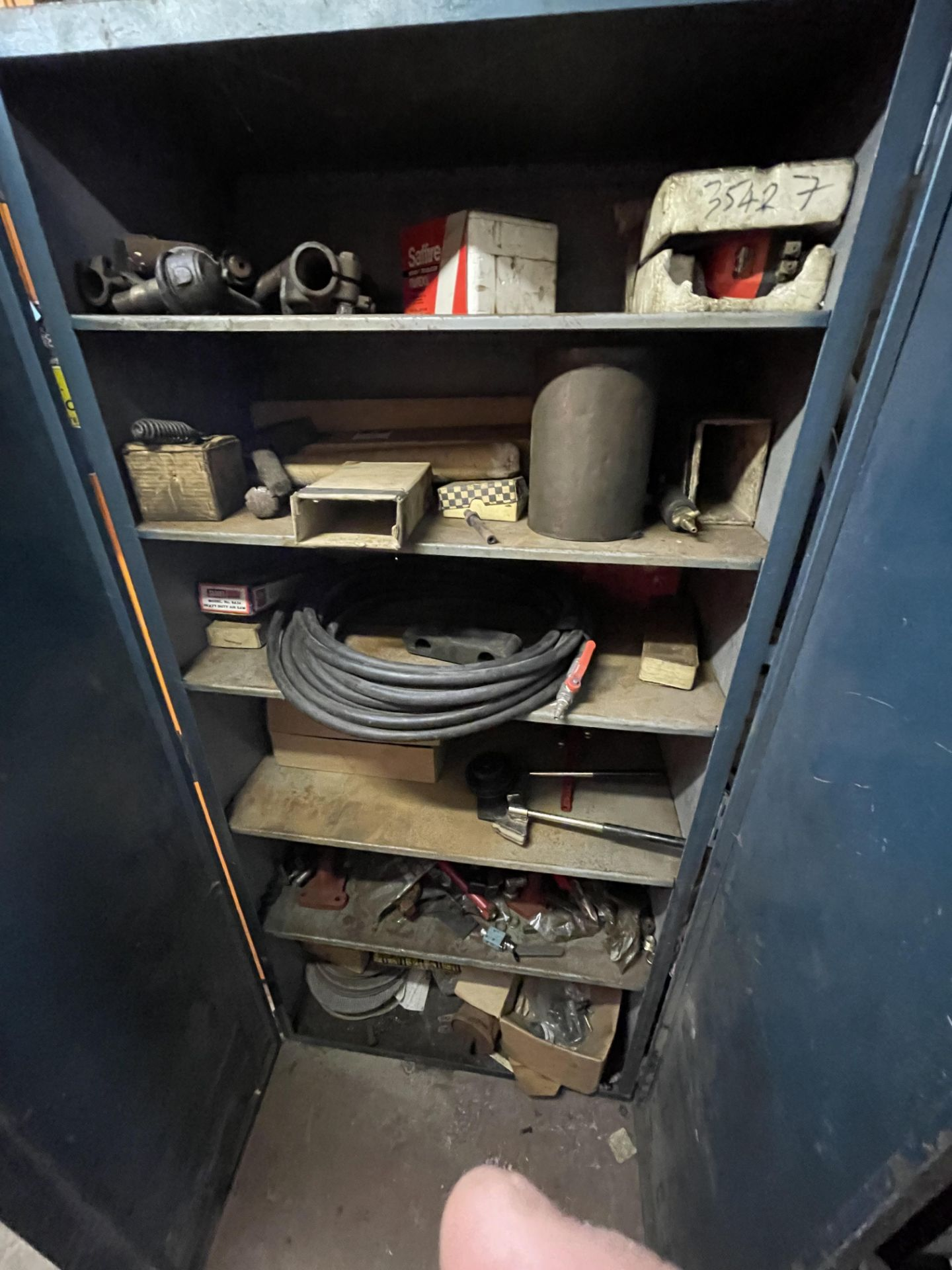Double Door Steel Cabinet, with contents(this lot is subject to 15% buyer's premium)Please read the - Image 2 of 2