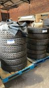 12 x 900 20 Double Coin Tyres, unused, with tubes and flaps(this lot is subject to 15% buyer's