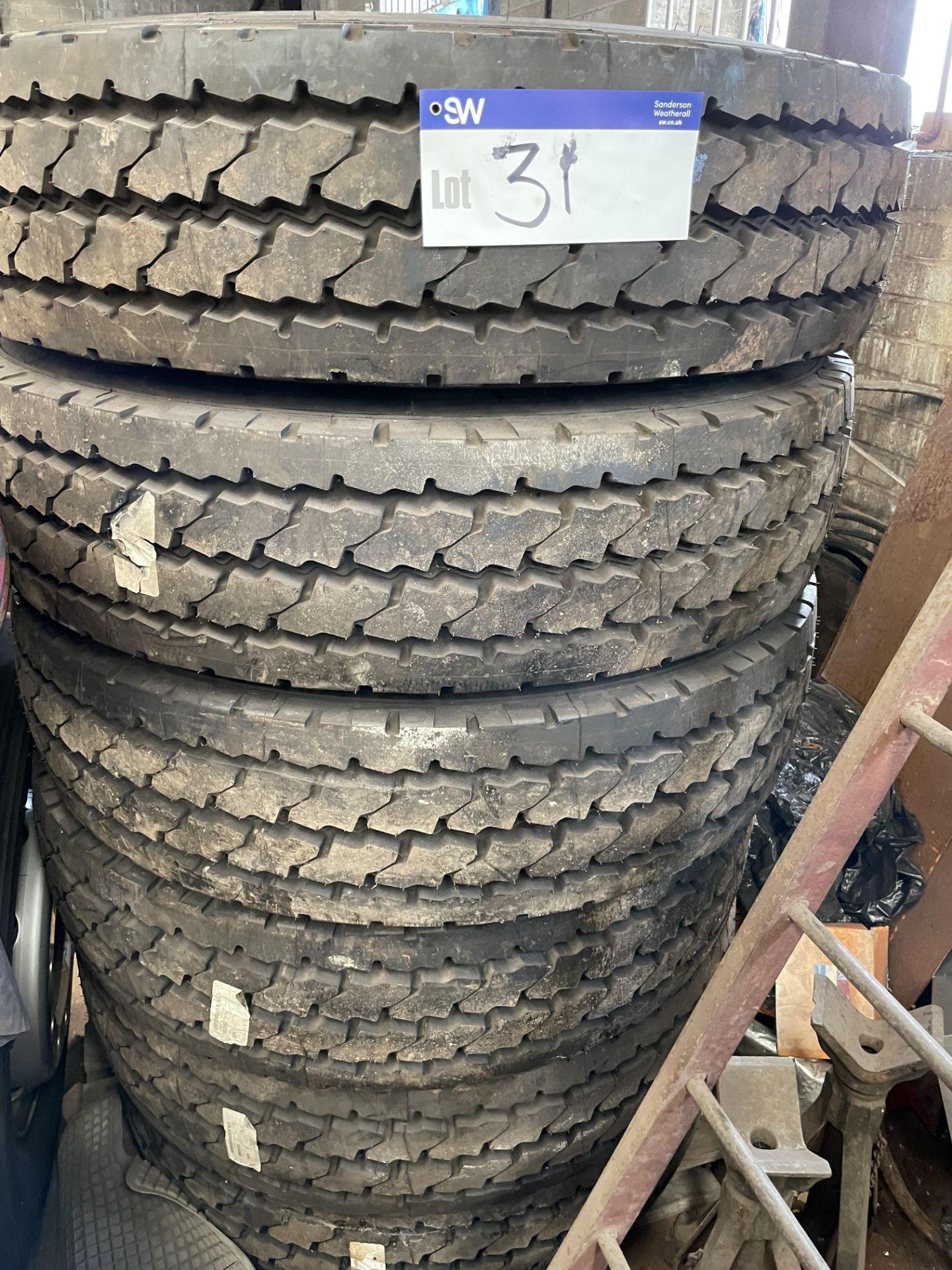 Six Michelin XZYZ 12R 22.5 Tyres, unused(this lot is subject to 15% buyer's premium)Please read the
