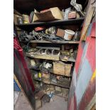 Timber Cabinet, with contents(this lot is subject to 15% buyer's premium)Please read the