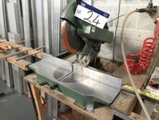 Unbranded Mitre Cutting Saw, 240V with wooden & metal framed benchesPlease read the following