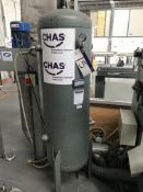 Rednal Pneumatics Vertical Steel Air Receiver, 250 litre, year of manufacture 2004Please read the