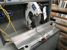 OMGA 1P300CE Mitre Cutting Saw, serial no. A12912, year of manufacture 2016, 240V with mobile work