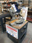 Ryobi EMS-1830SC Mitre Cutting Saw, serial no. 0905-001082, 110V, 240V with benchPlease read the