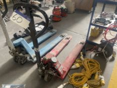 Excel Lift 2500kg Hand Hydraulic Pallet Truck, forks approx. 1.1m longPlease read the following