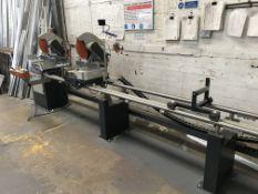 Elumatec DG79 + E111 TWIN MITRE SAW, machine no. 0799136549, year of manufacture 2015 (Please