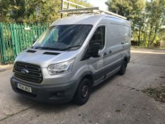 Ford Transit 290 2.2 TDCi 125ps TREND VAN, with fitted glass rack, registration no. YC14 XKZ, date