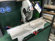 OMGA 1P300 Mitre Cutting Saw, serial no. A13037, year of manufacture 2021, 240V with mobile work
