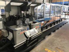 Elumatec DG142 E 555/1 TWIN MITRE SAW, machine no. 1425131260, year of manufacture 2011 (Please