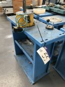 Shoham Metal Punch Tool Stand, fitted with Mecan'outil type 393300 pneumatic mechanism, serial no.