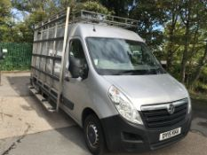 Vauxhall Movano 35 2.3 CDTi BiTurbo ecoflex 136ps VAN, with fitted glass rack, registration no. DY15