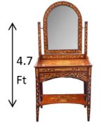Antique Marquetry Inlay Vanity
