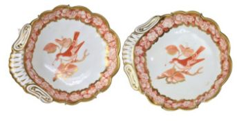 English 19th C Scalloped Dishes
