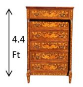 Antique Marquetry High Chest