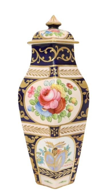 English Crown Staffordshire Covered Vase