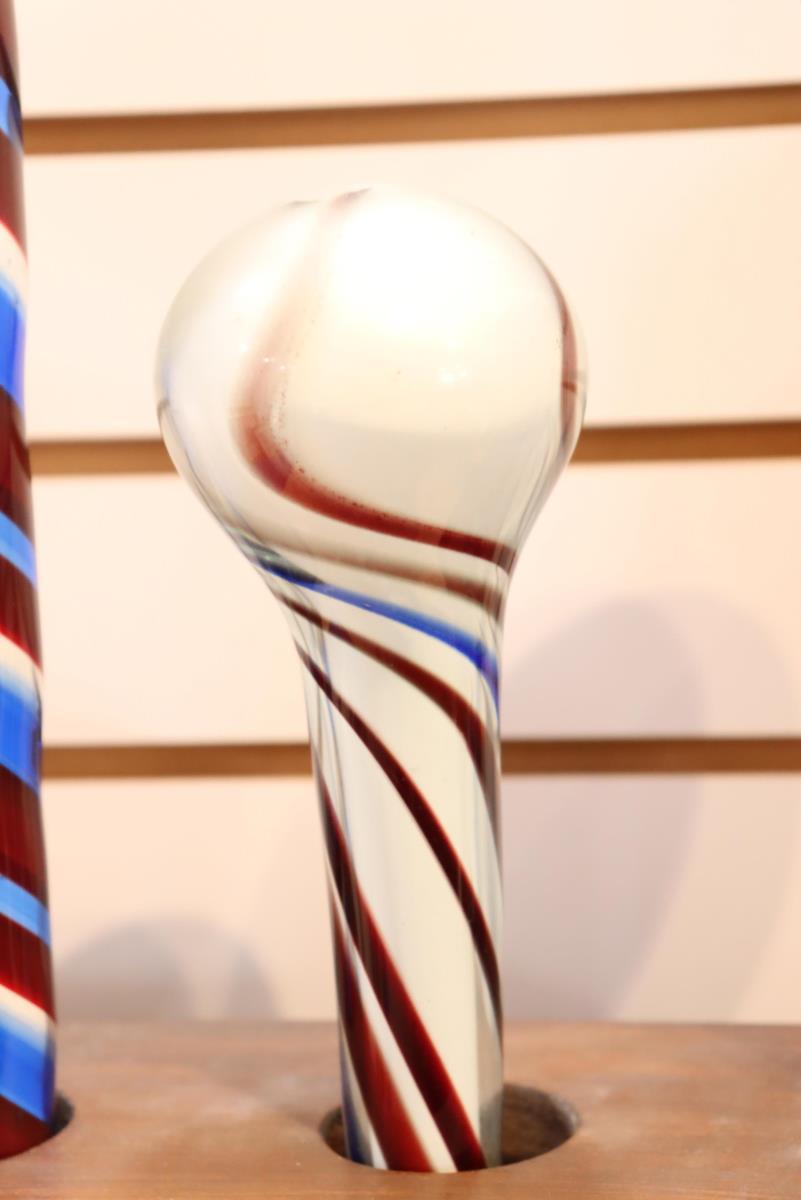 Free-Blown Glass Walking Stick / Parade Staff - Image 4 of 4