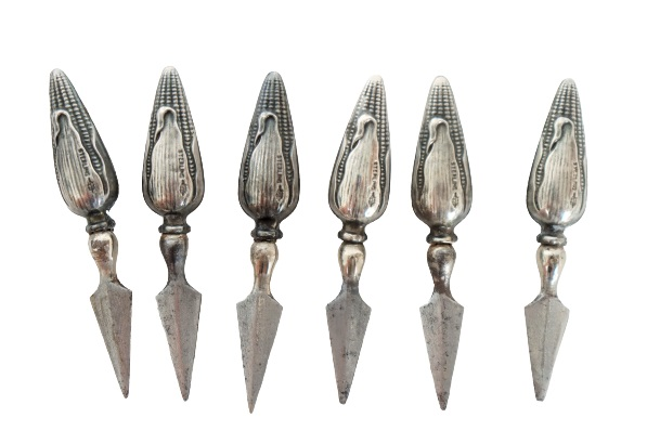 (6) Sterling Silver Corn Cob Holders