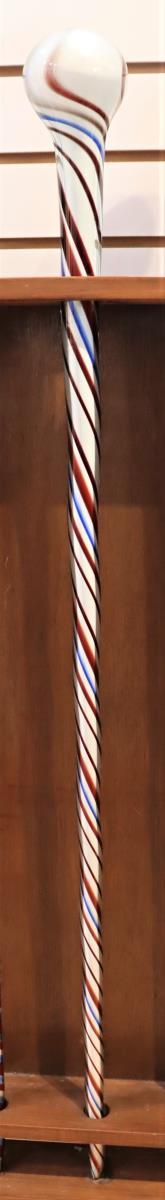Free-Blown Glass Walking Stick / Parade Staff - Image 2 of 4