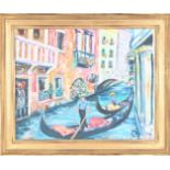 Venetian Canal Painting, Oil on Canvas
