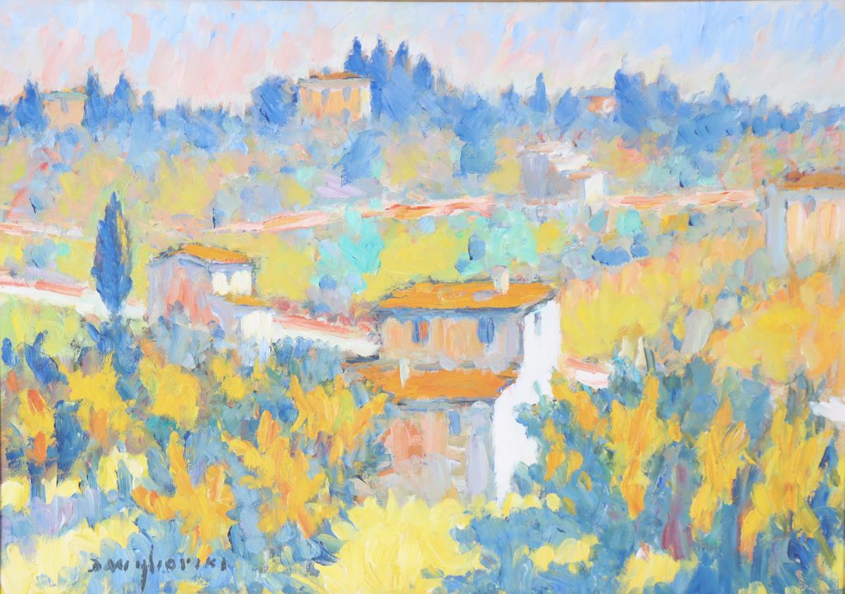 Dino Migliorini (1909-2005) Italian, Oil on Board - Image 3 of 4