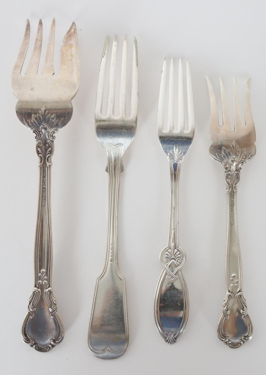 Set of (19) Silver Cutlery Pieces, 11 OZT - Image 9 of 16