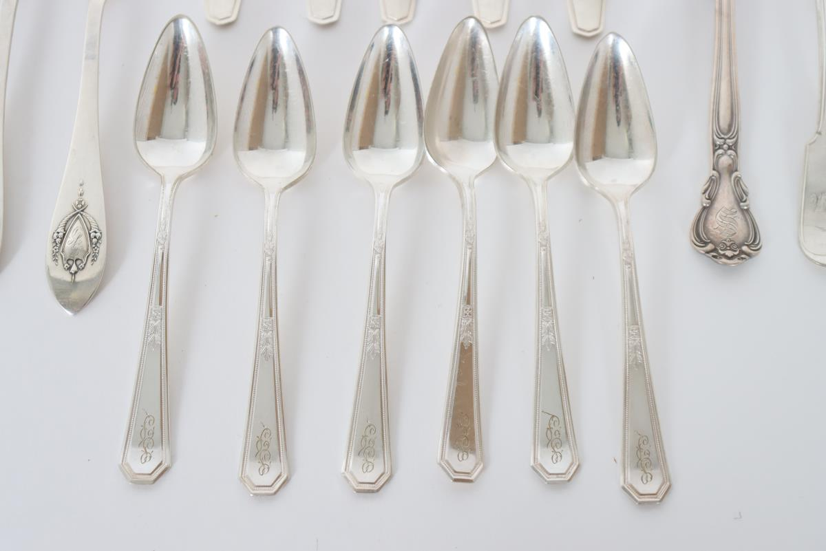 Set of (19) Silver Cutlery Pieces, 11 OZT - Image 3 of 16