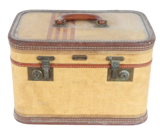 Vintage Oshkosh Train Case of Anita Lhoest
